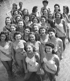 Contestants at the 1944 Miss America Pageant