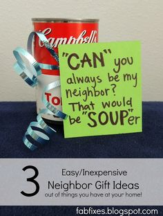 Fabulous Fixes: 3 Super Easy Super Cute Neighbor Gift Ideas with things you already have at home!