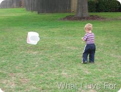 Kite for Weather. Cheap, easy, and fun. Imagine the pictures we could get of all those preschoolers running around the quad with these...so cute!