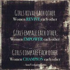 Girls vs. Women - Ann Voskamp quote