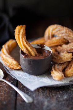 Churros with espress