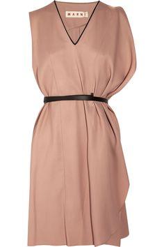 belted sateen dress ▲ marni