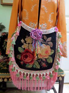 Romantic OOAK Handmade Bohemian Gypsy Victorian by WensElegantLife, needlepoint