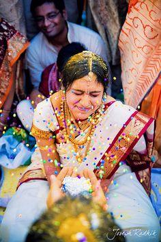 Talambralu!, beauti sari, fashion, indian weddings, wedding games, colors, brides, celebr indian, blog, wedding fun