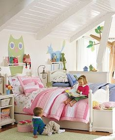 Shared bedrooms on pinterest shared bedrooms shared for Brother and sister shared bedroom ideas