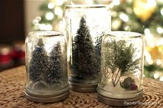 Snow Globes {Anthropologie Knockoff} from Its Overflowing