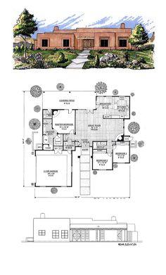 Santa fe house plans on pinterest house plans master for Santa fe house plans