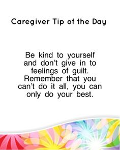 Caregiver Tip - Be K