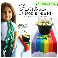 Doll Craft – Rainbow Table Runner and Doll Sized Pot of Gold