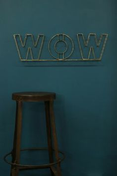 WOW Metal Sign