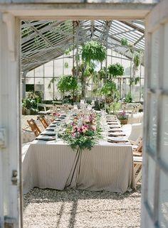 Greenhouse wedding table