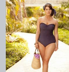 awesome swimsuit for curvy women! Think I might be a little too curvy for it right now :/