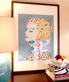 """""""Audrey"""" art print by COZAMIA"""
