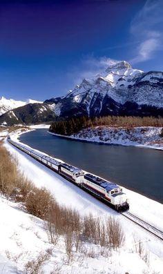 Banff/Lake Louise by train, Alberta, Canada