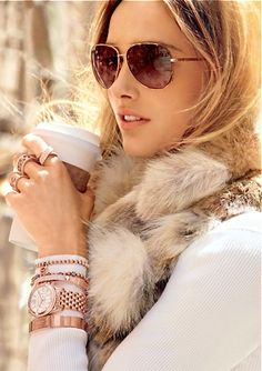 :: Michael Kors, 2013/2014 - fur and aviators ::