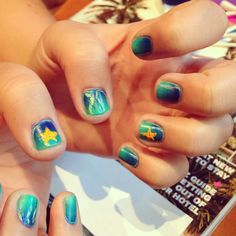 Underwater mermaid nails