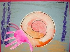 Eric Carle themed crafts: A House for Hermit Crab; great for a beach theme