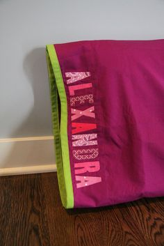 Pillowcase with name