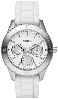 #Fossil #Watch , Fossil Stella Silicone Watch - White ES2888...$105.00