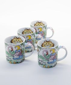 Look at this #zulilyfind! Alice in Wonderland Mug - Set of Four #zulilyfinds