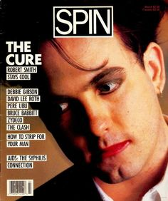 The Cure's Robert Smith on the cover of Spin, March 1988.