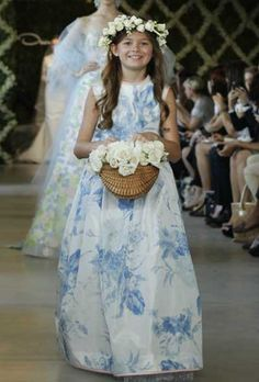 blue floral wedding