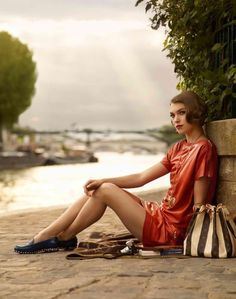 Arizona Muse models for the Louis Vuitton Cruise 2012 catalogue.