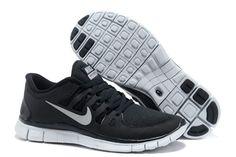 Nike Free 5.0 Coal Black White Mens Running Shoes