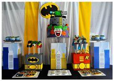 dessert tables, sugar babi, batman birthday, birthday parties, superhero party