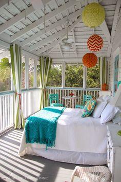 Sleeping porch   Jane Coslick (love her happy colors)