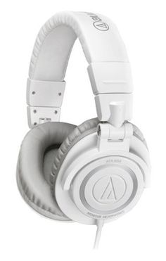 Audio-Technica ATH-M50WH Professional Studio Monitor Headphones with Coiled Cable, White by Audio-Technica, http://www.amazon.com/dp/B007GC4L7S/ref=cm_sw_r_pi_dp_I71Qrb0GKTEWE