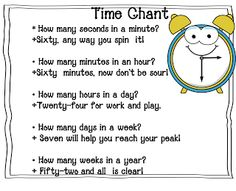 classroom, idea time, school, telling time, time chant
