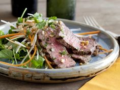 Grilled Steak and Papaya Salad from FoodNetwork.com