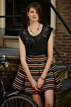 #Ribboned #Swing #Skirt #Anthropologie