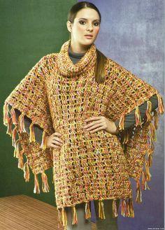 Uncinetto d'oro: Poncho! crochet gold, ponchos, crochet accessori, chale