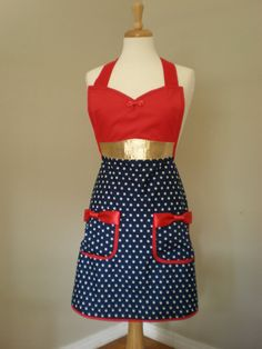 wonder woman cooking apron by Haute Mess Threads!!