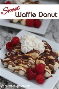 Sweet Waffle Donut with Chocolate Sauce + Blog Hop