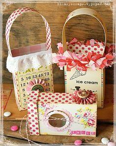 DIY:: Delicious Shabby Bags & Box !