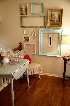 Love the mix of frames and empty frames!