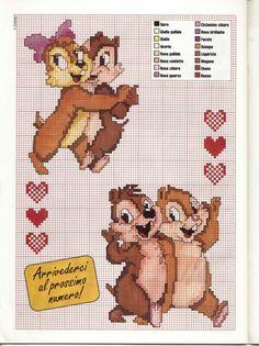 Chip & Dale  cross stitch