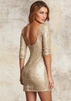 #Gold Glitter Dress  Prom Dresses #2dayslook #PromPerfect #kelly751 #sasssjane  www.2dayslook.com