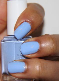 Essie Bikini So Teeny:A baby blue with tiny flecks of silver shimmer. Very pretty.