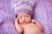 A purple baby cap is a good reminder about PURPLE crying and could reduce a new parents frustration with a crying infant, which can be a trigger for shaking and abuse.