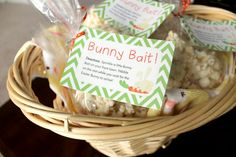 Bunny Bait! A quick, easy Easter treat, plus FREE printable labels for packaging!