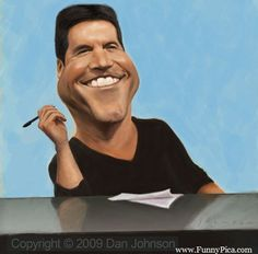 celebrity caricatures - Simon Cowell.....Or Cowl..