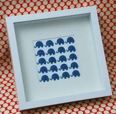 DIY elephant paper punch art