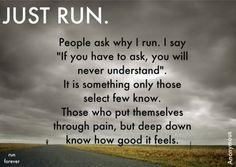 how good it feels to run