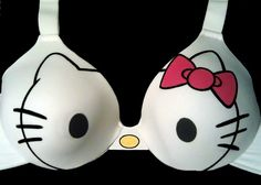Handpainted Hello Kitty Bra. $30.00, via Etsy. I love this! Great way to turn a plain white bra into something fun! Kris,