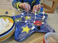 marshmallows + toothpicks = easiest activity ever!