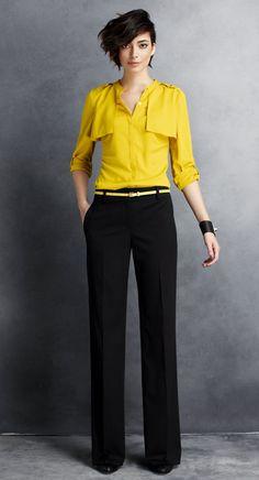 Yellow shirt!